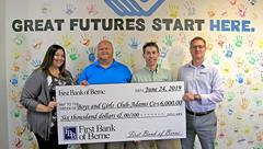 First Bank of Berne donates to Boys & Girls Club of Adams County