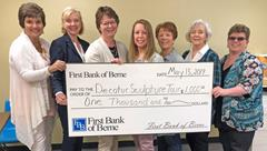 First Bank of Berne donates to Decatur Sculpture Tour