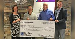 First Bank of Berne donates to Caylor-Nickel Foundation Family YMCA