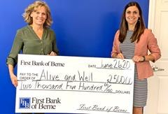 First Bank of Berne supports the mission of Alive and Well