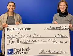 First Bank of Berne donates to the Creative Arts
