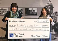 First Bank of Berne supports Unfailing Love Clinic in Decatur