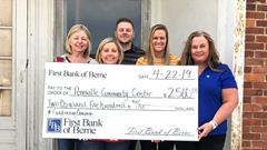 First Bank of Berne donates to Pennville Community Center