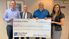 First Bank of Berne donates to Wells County Economic Development