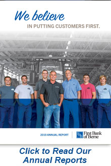 Cover of First Bank of Berne's 2019 Annual Report
